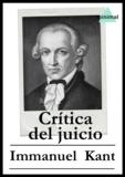 Immanuel Kant - Crítica del juicio.