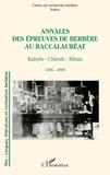 INALCO - Annales des épreuves de berbère au baccalauréat (1995-2009) - Kabyle - Chleuh - Rifain.