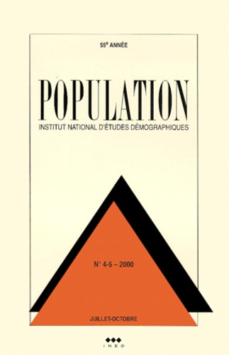 Ined - Population N° 4-5 Juillet-Octobre 2000.
