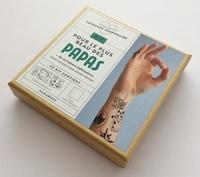 Inès Carratiè - Kit Mon petit tatouage temporaire pour le plus beau des papas - Plus de 20 tattoos éphémères. Le livre mode d'emploi avec 4 planches de tattoos.