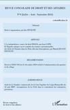 Inès Féviliyé - Revue congolaise de droit et des affaires N° 9 :  - Juillet-Août-Septembre 2012.