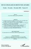 Inès Féviliyé - Revue congolaise de droit et des affaires - octobre - novembre - décembre 2012.