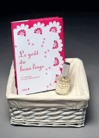"""Inès Heugel - Le goût du beau linge - Avec un parfum """"Fleur de coton"""" Durance."""