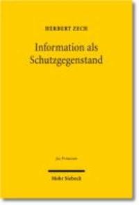 Information als Schutzgegenstand.