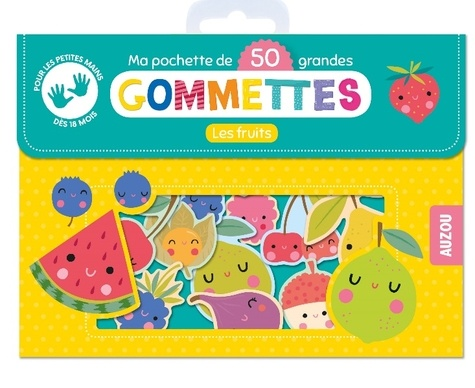 Inga Wilmink - Ma pochette de 50 grandes gommettes - Les fruits.