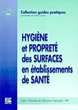 INHNI-FEP - Hygiène et propreté des surfaces en établissements de santé.