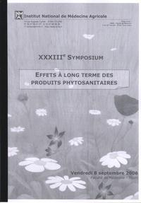 INMA - Effets à long termes des produits phytosanitaires - 23e symposium, 8 septembre 2006.