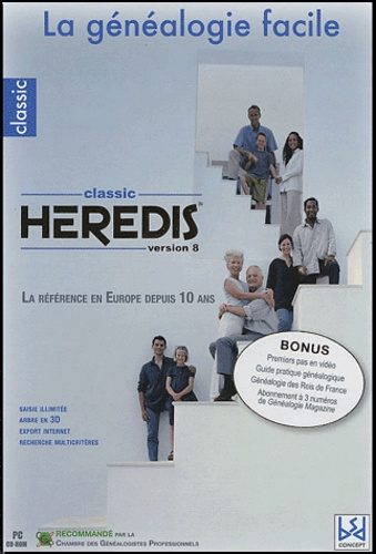 Innelec Multimedia - Heredis classic version 8 la généalogie facile - CD-ROM.