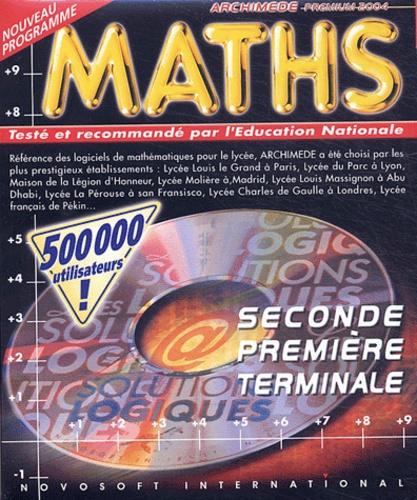 Novosoft - Maths seconde première terminale Archimède premium 2004 - CD-ROM.