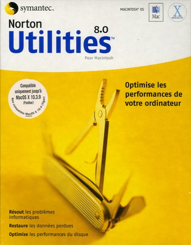 Symantec - Norton Utilities 8.0 - CD-ROM pour Macintosh.