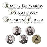 Mussorgsky et  Rimsky-Korsakov - Scheherzada lot trzmiela ;  Kaprys Hiszpanski ; Baba Jaga. 2 CD audio