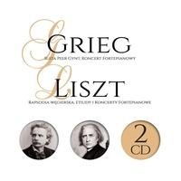 Edvard Grieg et Franz Liszt - Suite Peer Gynt, Koncert Fortepianowy ; Rapsodia Wegierska, Etiudy, Koncerty Fortepianowe.