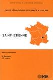Michel Bornand et Jean-Paul Legros - Saint-Etienne - 1/100 000.