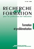 INRP - Recherche et formation N°48 : formation et problématisation.
