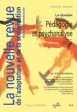 Sylvie Canat et Hervé Benoit - La nouvelle revue de l'adaptation et de la scolarisation N° 54, Juillet 2011 : Pédagogie et psychanalyse.