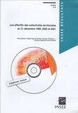 INSEE Bretagne - Les effectifs des collectivités territoriales au 31 décembre 1999, 2000, 2001. 1 Cédérom