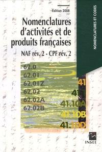 INSEE - Nomenclatures d'activités et de produits françaises - NAF rév. 2 - CPF rév. 2.