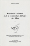 Institut Alain - Alain dans ses oeuvres et son journalisme politique - Colloque organisé à Paris à l'occasion du cinquantenaire de la mort d'Alain les 30 novembre et 1er décembre 2001.
