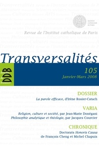 Institut catholique de Paris - Transversalités n°105.