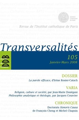 Transversalités n°105
