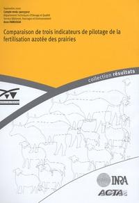 Institut de l'élevage - Comparaison de trois indicateurs de pilotage de la fertilisation azotée des prairies.