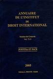 Institut droit international - Annuaire de l'Institut de droit international - Volume 71 Tome 1, Session de Cracovie, 2004, 1re partie, Travaux préparatoires, édition français-anglais.