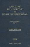 Institut droit international - Annuaire de l'Institut de droit international - Volume 73, Session de Naples.