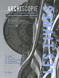 François de Mazières - Archiscopie N° 12, Décembre 2005 : Les livres.