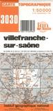 IGN - Villefranche-sur-Saône - 1/50 000.