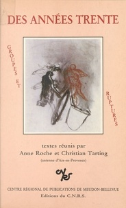 Institut national de la langue - Des années trente : groupes et ruptures - Actes du Colloque, 5-7 mai 1983.