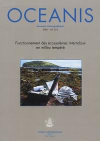 Eric Thiebaut - Oceanis Volume 32 N° 2/2006 : Fonctionnement des écosystèmes intertidaux en milieu tempéré.