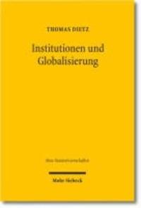 Institutionen und Globalisierung - Eine empirische Untersuchung am Beispiel grenzüberschreitender Softwareentwicklungsverträge.