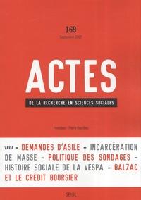 Alexis Spire et Megan Comfort - Actes de la recherche en sciences sociales N° 169, Septembre 20 : .