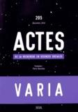Julien Duval et Dominique Marchetti - Actes de la recherche en sciences sociales N° 205, Décembre 201 : Varia.