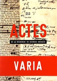 Anne Lambert et Etienne Ollion - Actes de la recherche en sciences sociales N° 213, juin 2016 : Varia.