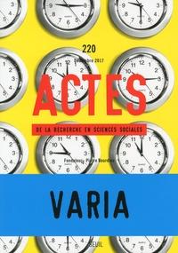 Etienne Ollion - Actes de la recherche en sciences sociales N°220, décembre 2017 : Varia.