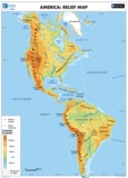 Eduscope et  AFDEC - America: Political & Relief Map.