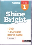 Corinne Escales - Anglais 1re B1>B2 Shine Bright. 1 DVD + 3 CD audio