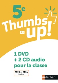 Francine Cante et Karine Lince-Barrère - Anglais 5e A2 Thumbs up!. 1 DVD + 2 CD audio