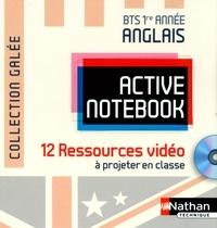 Christine Pilorget - Anglais BTS 1re année Active Notebook - 12 ressources vidéo à projeter en classe. 1 DVD