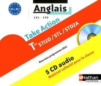 Daniel Bonnet-Piron - Anglais LV1-LV2 Tles STI2D/STL/STD2A Take Action B1/B2. 5 CD audio