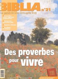 Maurice Gilbert - Biblia N° 21 Août-Septembre : Des proverbes à vivre.