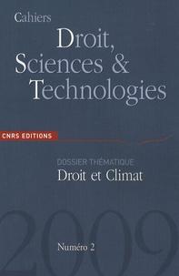 Etienne Vergès - Cahiers Droit, Sciences et Technologies N° 2 : Droit et Climat.