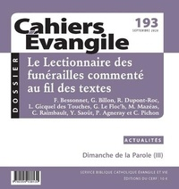 Eric Morin - Cahiers Evangile N° 193, septembre 20 : .