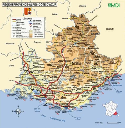 Carte Region Paca.Carte Region Paca