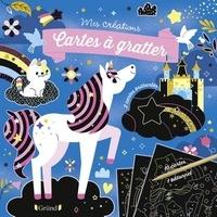 Clémentine Derodit - Cartes à gratter Licornes et chevaux - Avec 10 cartes à gratter et 1 bâtonnet.