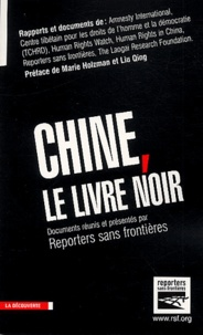 Vincent Brossel et  RSF - Chine, le livre noir.