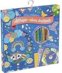 Sophie Rohrbach - Coffret Attrape-rêves brillants - Avec un mode d'emploi, 6 feuilles d'origamis, 2 fils colorés, 4 tubes de paillettes, 1 stylet et 4 cartes prédécoupées à faire briller.