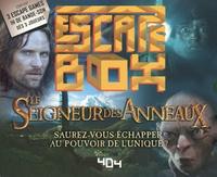 Laurent Hachet - Escape box Le seigneur des anneaux - Contient : 3 livrets, 131 cartes, 1 bande-son de 60 minutes, 1 poster, 6 badges.