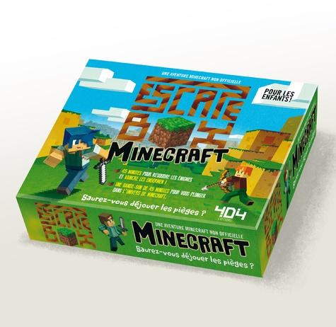 Stéphane Anquetil - Escape box Minecraft - Contient : 1 livret, 40 cartes, 1 bande-son de 45 minutes, 1 poster.